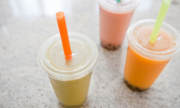 Boba Day - Montebello: $11 for Four Groupons, Each Good for $5 Worth of Bubble Tea, Smoothes, Shaved Ice, and Coffee at Boba Day