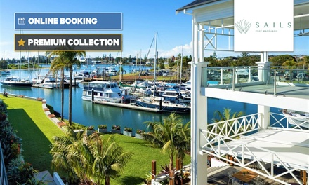 Port Macquarie: 1-2 Nights for Two with Brekky, Wine and Late Check-Out at 4.5* Sails Port Macquarie By Rydges