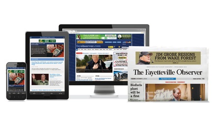 13-Week The Fayetteville Observer Subscription with Daily or Sunday Delivery and Digital Access (Up to 59% Off)
