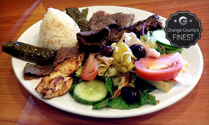 Bravo Avo - Lake Forest: Greek Mediterranean Dinner Cuisine and Drinks for Two or Four at Bravo Avo (Half Off)