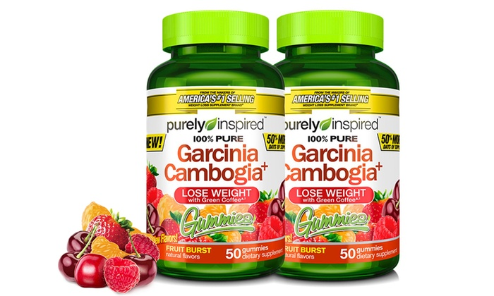2 Pack Purely Inspired Garcinia Cambogia Gummies 50 Count Groupon
