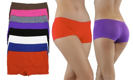 Women's Seamless Stretchy Boy Shorts (6-Pack)