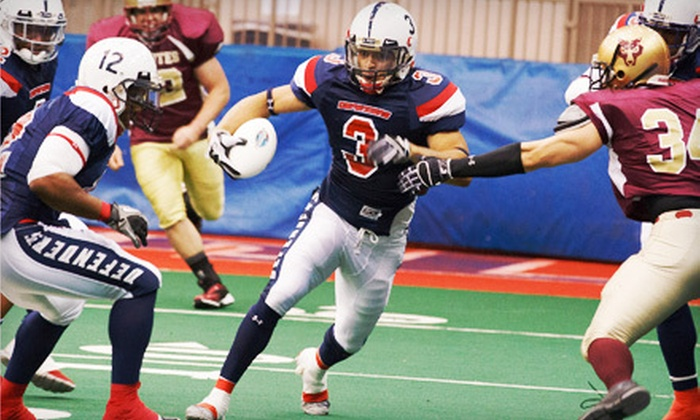 Oklahoma Defenders - Downtown Tulsa: Oklahoma Defenders Champions Professional Indoor Football League Game for 2 or 4 at Tulsa Convention Center (57% Off)