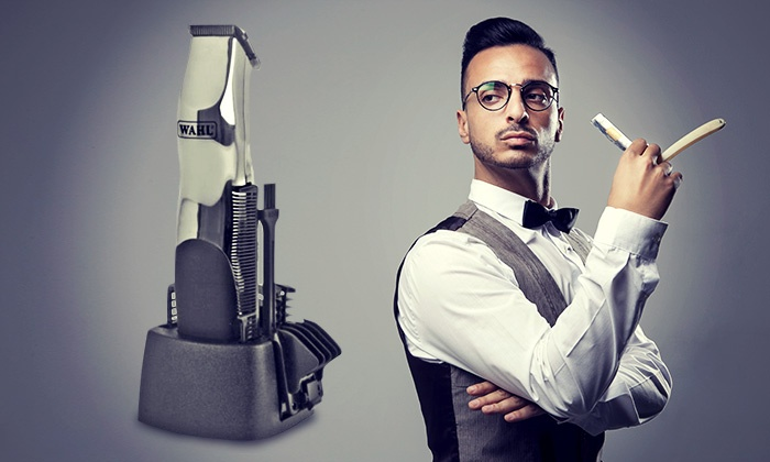 wahl groomsman hair trimmer set groupon goods. Black Bedroom Furniture Sets. Home Design Ideas