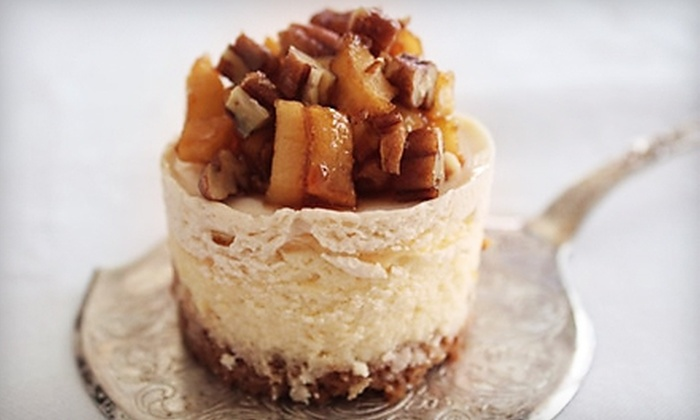 Le Petit Cheesecakes: $25 for 16 Mini Cheesecakes or Bonbons for Delivery from Le Petit Cheesecakes (Up to $50 Value)