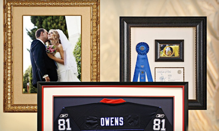Art & Frame Express - Multiple Locations: Custom Framing at Art & Frame Express (Up to 61% Off). Two Options Available.