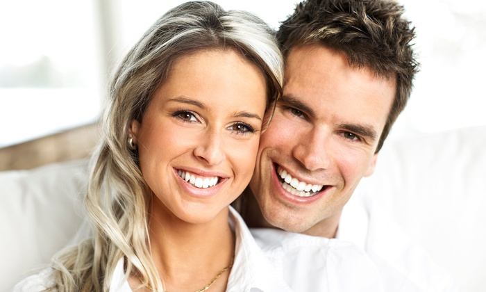 Hollywood Smile - Hollywood Smile: LED Teeth-Whitenings with Fluoride or Oral Cancer Screen with Hygiene Exam at Hollywood Smile (Up to 69% Off)