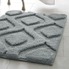 Plush Geometric Mia Bath Rugs