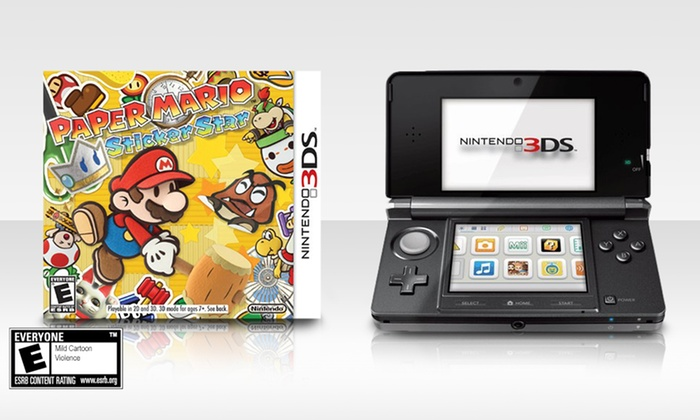 Nintendo 3DS System and Paper Mario: Sticker Star Bundle: Nintendo 3DS System(Refurbished)and Paper Mario: Sticker Star Bundle. Multiple Colors Available. Free Returns.