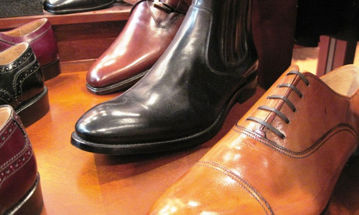 Rulls Clothing From Italy - Cambridgeport: $249 for One Pair of Men's Italian Dress Shoes and a Silk Tie at Rulls Clothing From Italy ($500 Value)