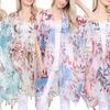 Women's Woven Flower Kimono Cardigan