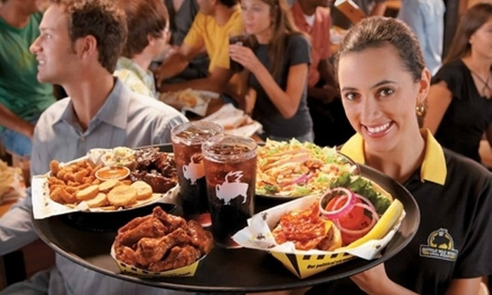 Buffalo Wild Wings - Multiple Locations: $10 for $20 Worth of Wings, Burgers, Ribs, and Wraps at Buffalo Wild Wings in Gilbert