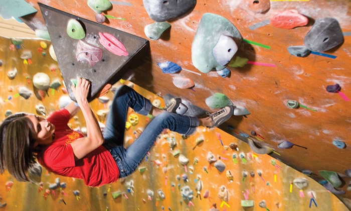 Momentum Indoor Climbing - Sandy: Indoor Rock Climbing for One or Two with Day Pass and Gear Rental at Momentum Indoor Climbing in Sandy (Up to 43% Off)
