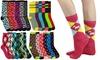 Women's Printed Crew Socks (12-Pairs)