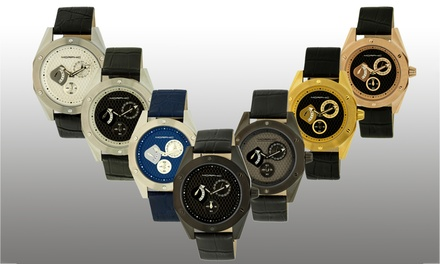 Morphic M38 and M46 Series Men's Watches with Genuine Leather Straps
