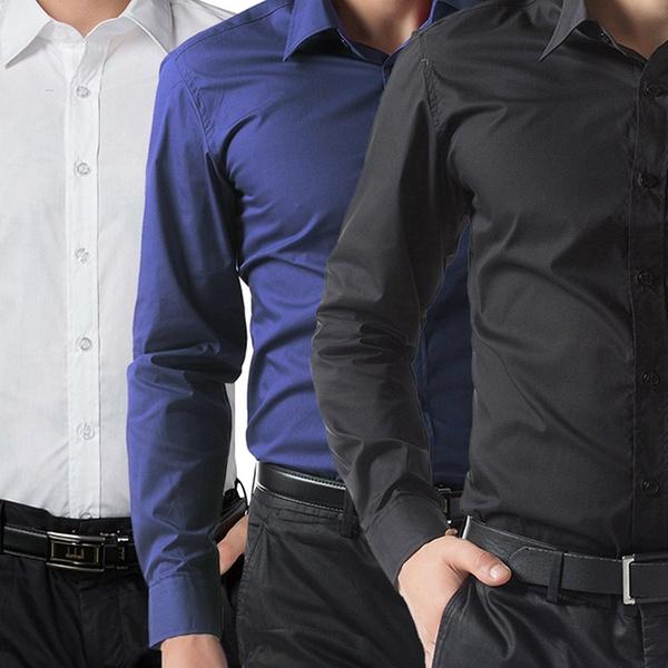 9c80237f9c 3 camicie da uomo slim fit disponibili in vari colori e taglie