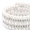 Crystal and Faux Pearl Multi-Row Bracelet Made with Swarovski Elements
