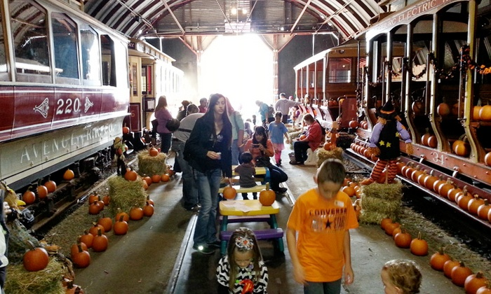 The Shore Line Trolley Museum - East Shore: Pumpkin Patch Entry for Two or Four at The Shore Line Trolley Museum (Up to 40% Off)
