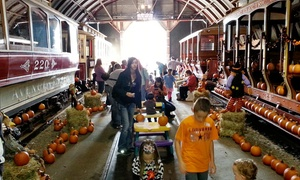 The Shore Line Trolley Museum: Pumpkin Patch Entry for Two or Four at The Shore Line Trolley Museum (Up to 40% Off)