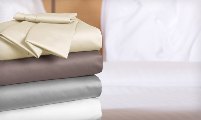 Royal Luxe Egyptian-Cotton 1,000 Thread Count 4-Piece Sheet Sets: $109.99 for Royal Luxe 1,000-TC Egyptian-Cotton Sheet Set ($299.99 List Price). Four Colours and Three Sizes Available.
