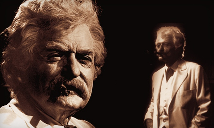 """""""Mark Twain Tonight!"""" - Heymann Performing Arts Center: """"Mark Twain Tonight!"""" at Heymann Performing Arts Center on December 2 at 7 p.m. (Up to Half Off). Two Options Available."""