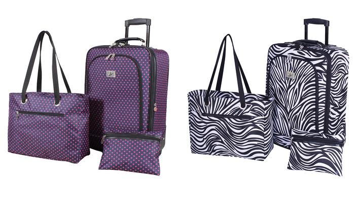Verdi Carry-On Luggage Travel Set (3-Piece) | Groupon