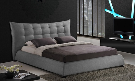 Platform Bed with Tufted Headboard from $449.99–$499.99