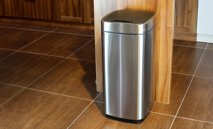 35-Liter Stainless Steel Motion-Sensor Trashcan