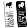 """Black and White Doggy Words 12"""" x 36"""" Gallery-Wrapped Canvas"""