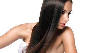 Nails on First and Hair 2: Full Highlights and Blow Out or Hair-Service Package at Nails on First and Hair 2 (Up to 68% Off)