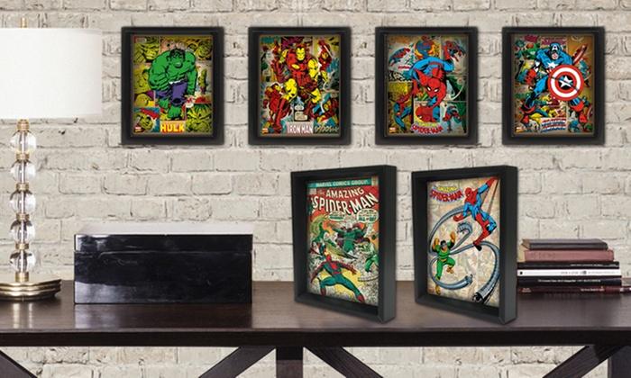 Marvel Comics Framed 3D Superheroes Posters: Marvel Comics Framed 3D ...