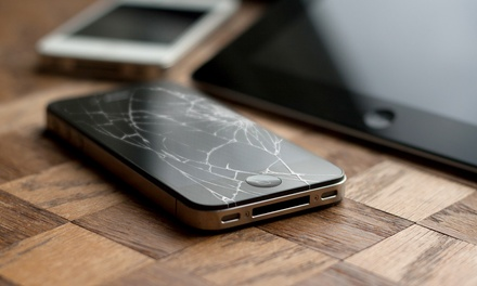 Screen Repair for an iPhone 4, 4s, 5, or 5s, or an iPad 2 or 3 at Custom Computer Builders (Up to 52% Off)