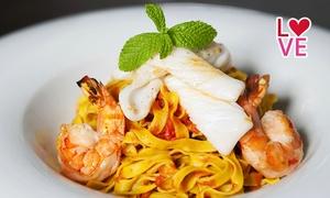 Osteria Cucina e Vino: Menu gourmet di pesce con vino per 2 o 4 persone da Osteria Cucina e Vino (sconto fino a 75%)