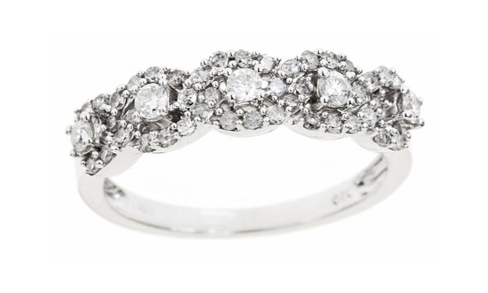 1/2-Carat Diamond Ring: 1/2-Carat Diamond Ring in 10-Karat White Gold. Free Returns.