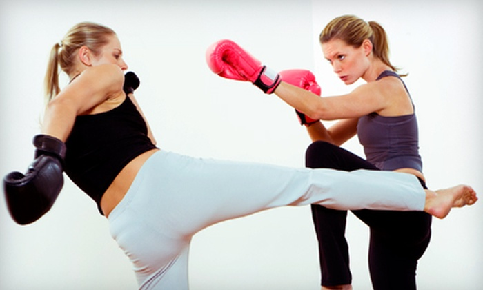 VictoryKickboxing.com - Multiple Locations: 5 or 10 Cardio-Kickboxing Classes and One Pair of Boxing Gloves at VictoryKickboxing.com (Up to 79% Off)
