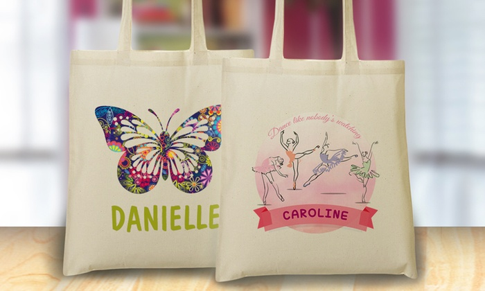 Monogram Online: One or Two Personalized Tote Bags for Kids from Monogram Online (Up to 69% Off)