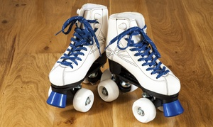 Roller Rink Package With Skate Rental And Indoor Ride Tickets For 2 Or 4  (41% Off)
