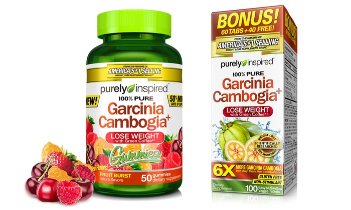 Purely Inspired Garcinia Cambogia Pills And Gummies 2 Pack Groupon