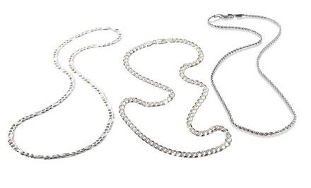 Men's Italian Sterling Silver Heavyweight Chain Necklace