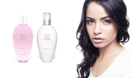 Euphorie Cosmetics Platinum-Infused Clarifying Toner and Purifying Cream Cleanser Bundle