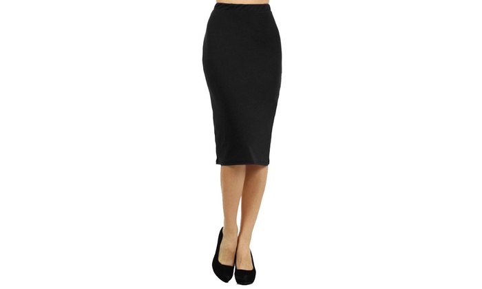 s plus size below the knee pencil skirt 3x groupon