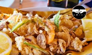 Ristorante Portoverde: Menu di pesce con 4 portate e vino (sconto fino a 72%)