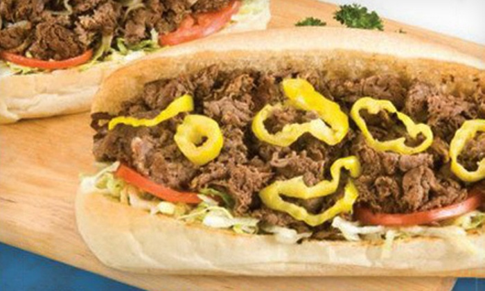 Jim's Steakout - Multiple Locations: $10 for $20 Gift Card for Hoagies, Wings, and Other American Snacks at Jim's Steakout