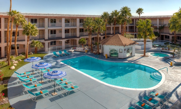 Aqua Soleil Hotel & Mineral Water Spa - Desert Hot Springs, CA: Stay with Two $25 Spa Credits at Aqua Soleil Hotel & Mineral Water Spa in Desert Hot Springs, CA. Dates into October.