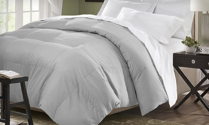 Oversized All Seasons Down-Alternative Comforter: $34.99 for an All Seasons Down-Alternative Comforter ($79.99 List Price). 9 Colors Available. Free Shipping and Returns.