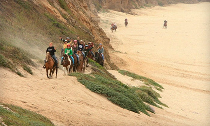 Sea Horse Ranch - Half Moon Bay: $32 for a 90-Minute Beach Horseback Ride at Sea Horse Ranch ($65 Value)