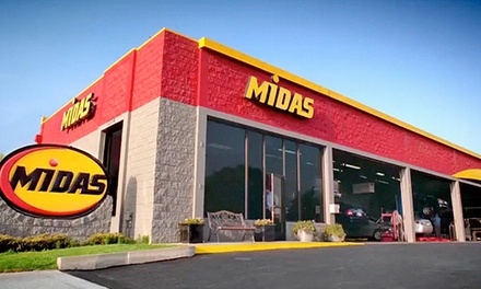 Full Service Conventional or Synthetic Oil Change with Tire Rotation and Inspection at Midas (Up to 45% Off)