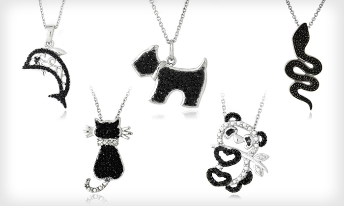 Black-Diamond-Accented Animal Pendants: $8.99 for a Black-Diamond-Accented Animal Pendant ($80 List Price). 11 Styles Available.