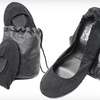 $20 for Black Corduroy Foldable Flats