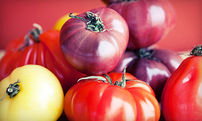 Crooked Sky Farms - Central City: 15 or 5 Pounds of Naturally Grown Heirloom Tomatoes at Crooked Sky Farms (51% Off)